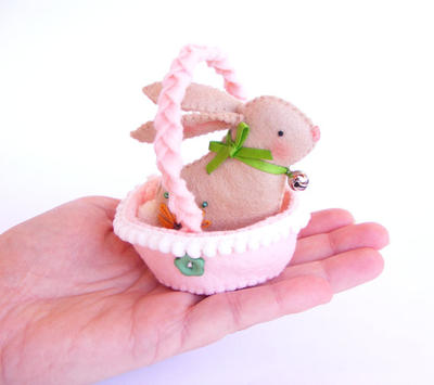 PDF pattern - Easter bunny in a basket