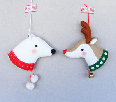 PDF pattern - Reindeer and Polar bear