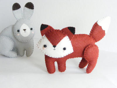 Woodland creatures - fox, squirrel, wolf, bear, badger and hare