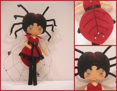 Lady Spider. Patrón Muñeca de fieltro