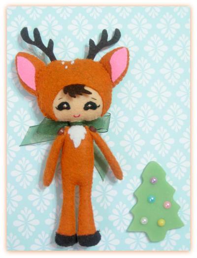 Reindeer Girl. Patrón Muñeca blandita.