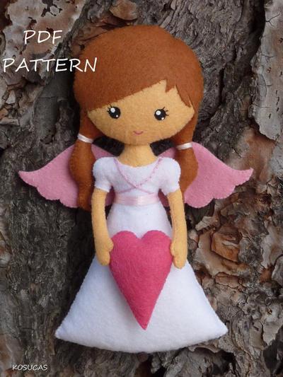 Patrón de costura de PDF para Angel