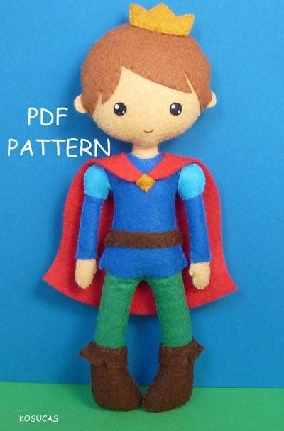 Patrón de costura de PDF para hacer un príncipe encantador
