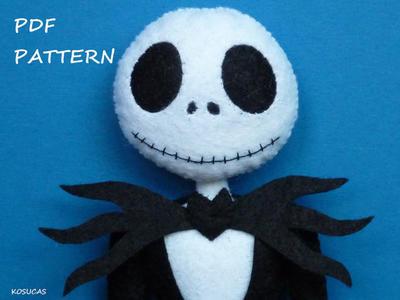 Patrón PDF Jack Esqueleto de Fieltro