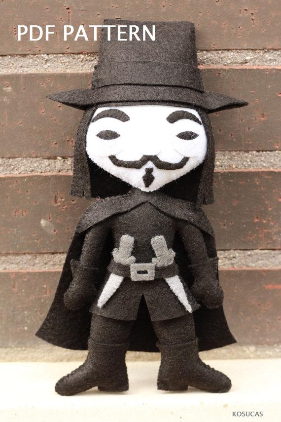 Patrón PDF para hacer a V de Vendetta o Guy Fawkes