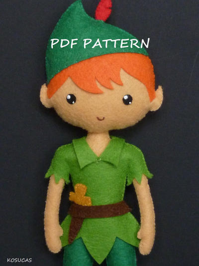 Patrón PDF para hacer Peter Pan