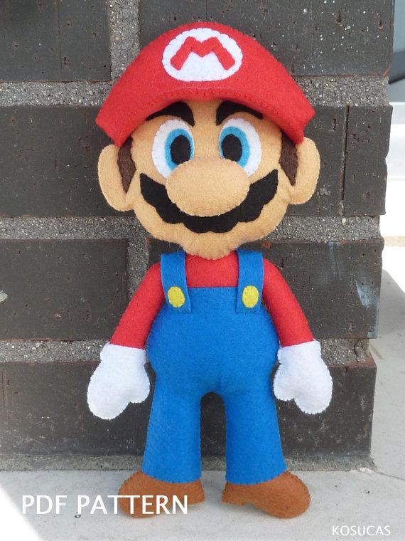 Patrón PDF para hacer un fieltro Mario Bros.