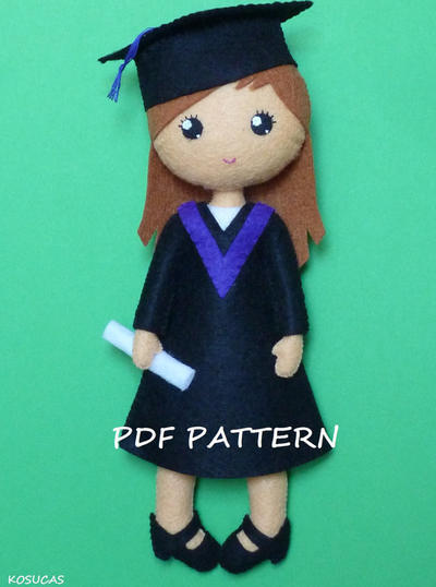PDF patter to make a felt graduate