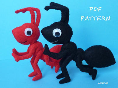 PDF pattern to make a felt ant
