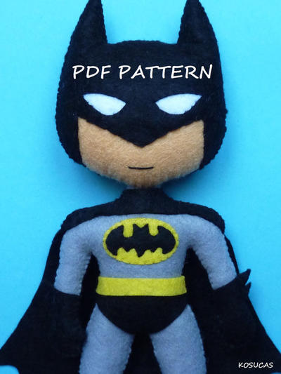 PDF pattern to make a felt Batman