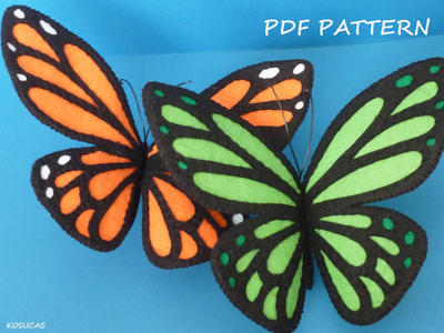 PDF pattern to make a felt Buttefly