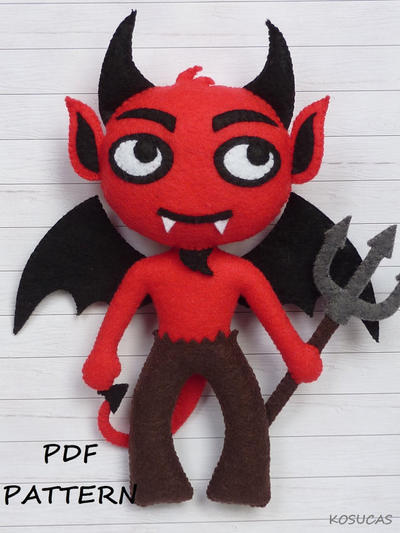 PDF pattern to make a felt Devil