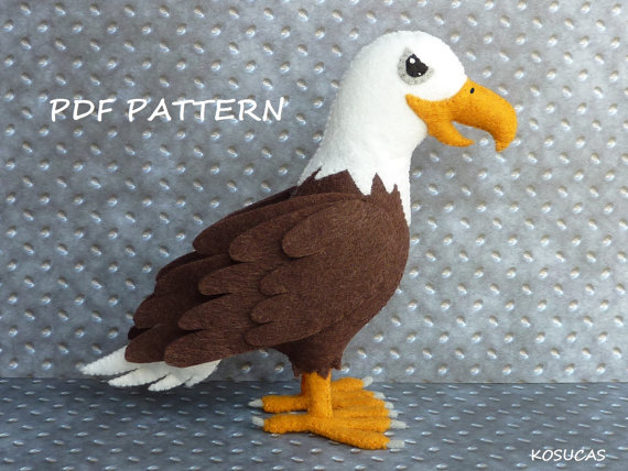 PDF pattern to make a felt eagle