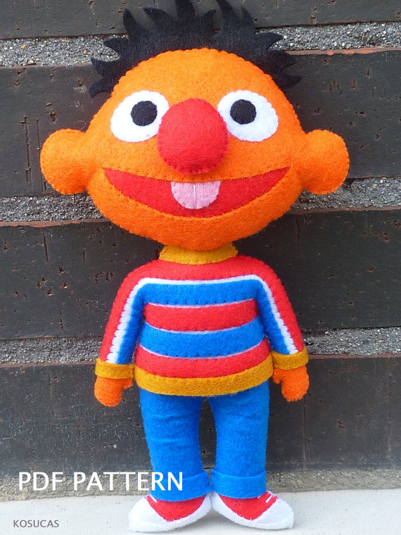 PDF pattern to make a felt Ernie (Epi).