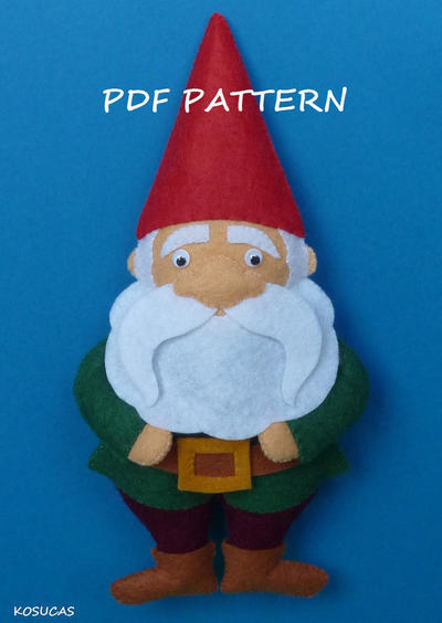 PDF pattern to make a felt Gnomo