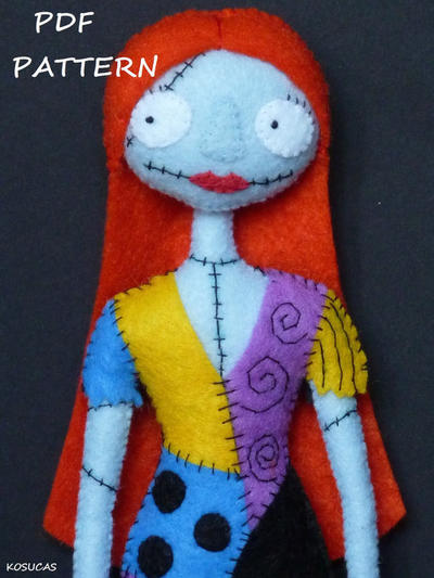 PDF pattern to make a felt Sally