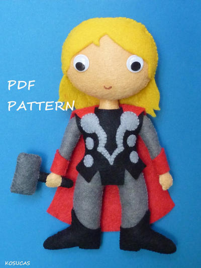PDF pattern to make a felt Thor