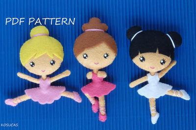 Pequeñas Bailarinas. Patrón de costura/fieltro