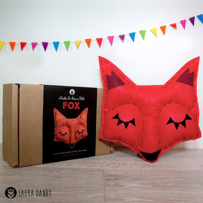 Fox Craft Easy Felt Kit, Christmas Kids Craft Activity