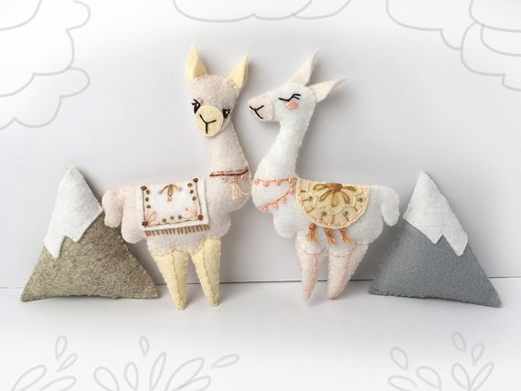 Llama Plush Felt Animals Sewing pattern