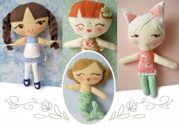 Plush Sewing Pattern for Lolly Dollies