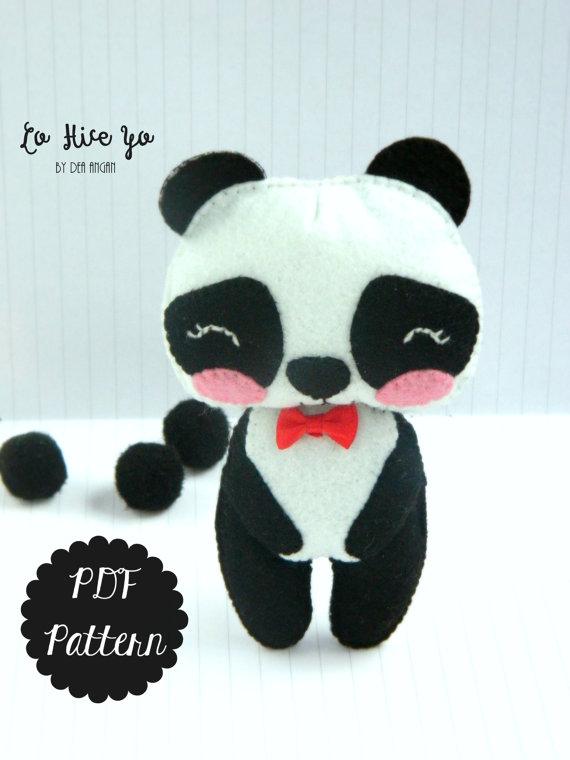 PDF Pattern: Panda Plush