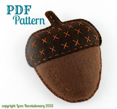 Felt Acorn Toy Pattern Autumn Fall
