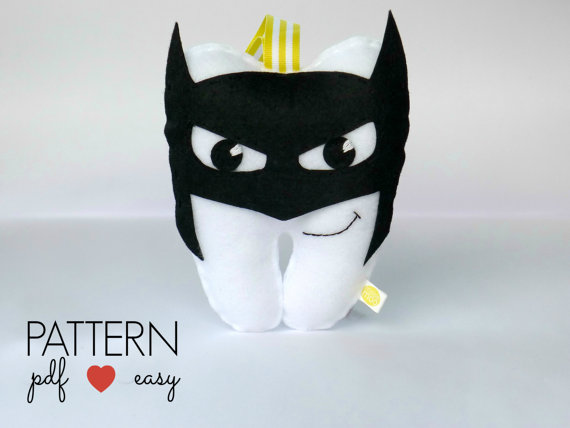 Batman Tooth Pillow Sewing Pattern