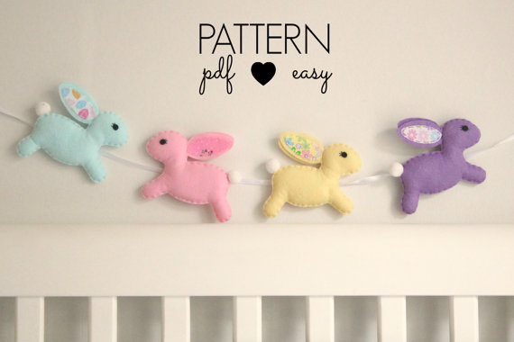 Bunny Rabbit Pattern - Felt Sewing Pattern