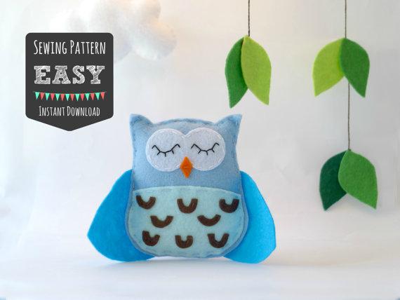 Easy Owl Sewing Felt Pattern