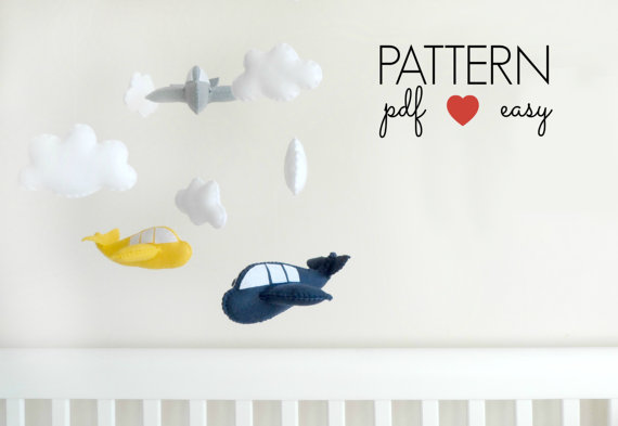 Felt Airplane Sewing Pattern