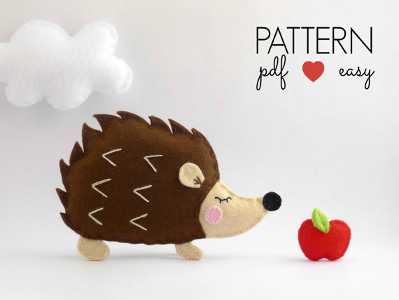 Hedgehog Plush Felt Pattern