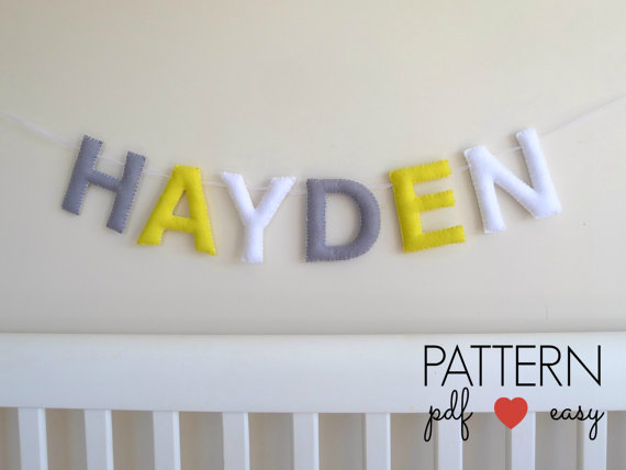 Make your name with this alphabet felt pattern