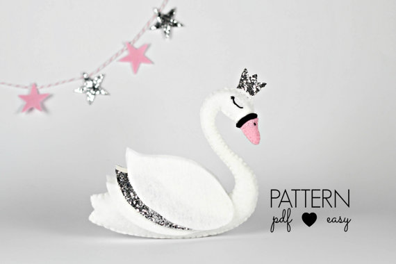 Swan Sewing Pattern - Swan Wedding