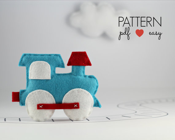 Train Nursery - Felt Sewing Pattern