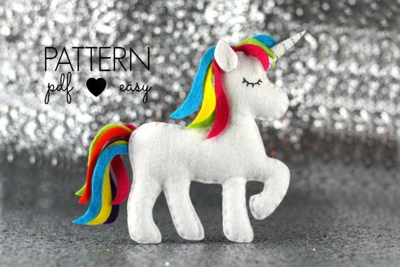 Unicorn Sewing Pattern - Unicorn Party Favor