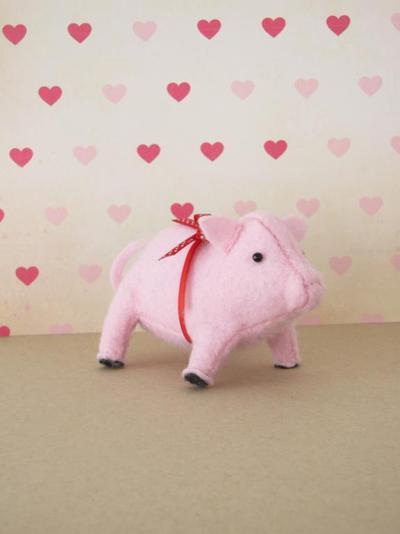 Prize Pig Felt Softie