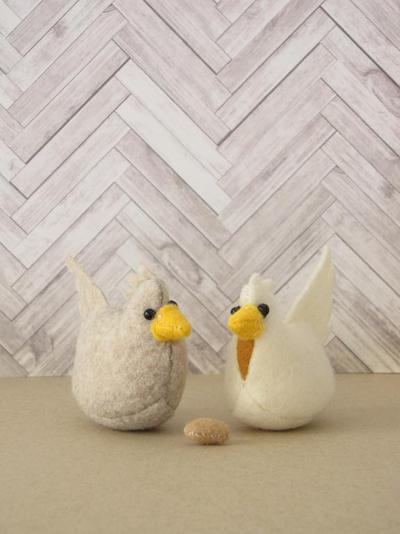 Roosting Hen Felt Stuffed Animal