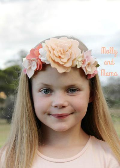 Coco Felt Flower Crown - felt flowers