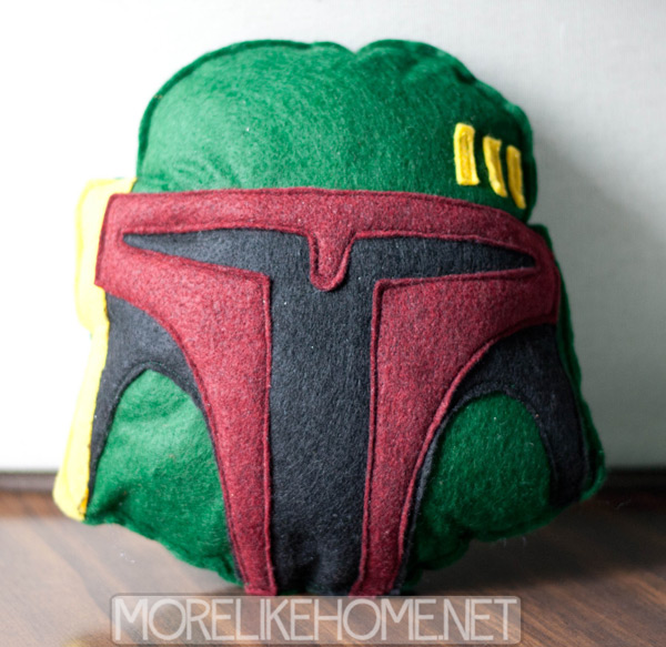 A little Boba Fett plushie pillow