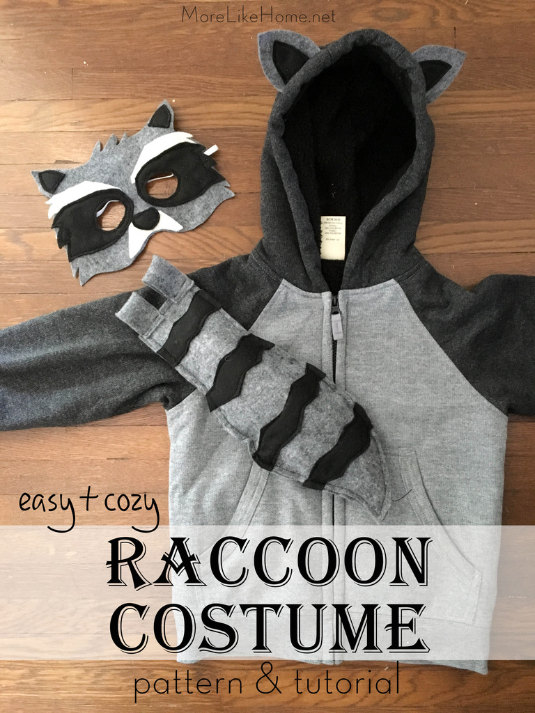 DIY Raccoon Costume