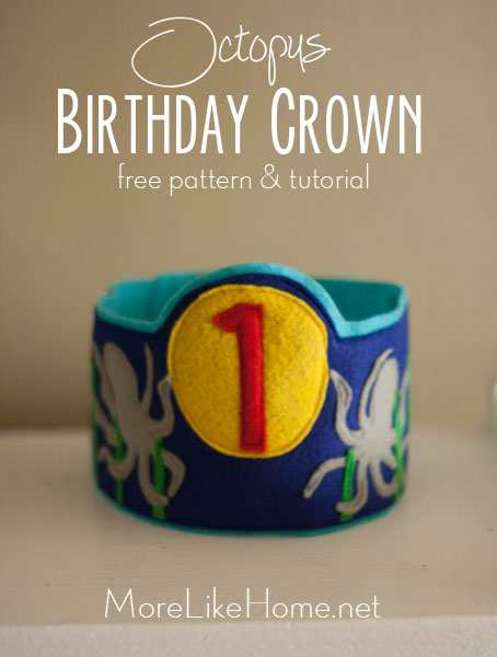 Octopus Birthday Crown