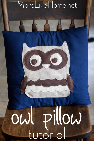 Owl Felt PIllow