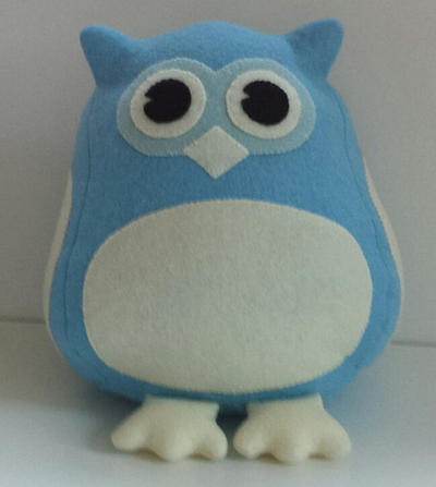 Felt Owl plushie digital download pdf pattern and tutorial