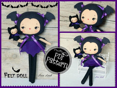 Bat girl with puppet
