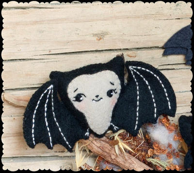 Cute bat halloween pattern.