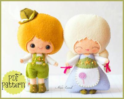 Patrón de Fieltro Hansel y Gretel