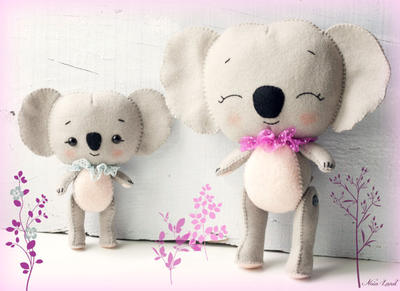 Patrón PDF. Koalas: mamá y bebé.