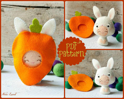 PDF. Bunny baby with carrot costume