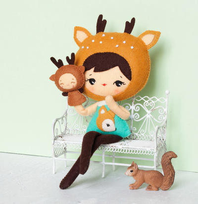 PDF. Muchacha de ciervo con marionetas